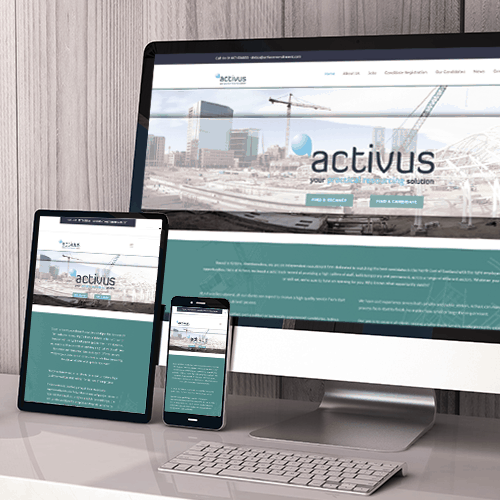 Activus Recruitment web design