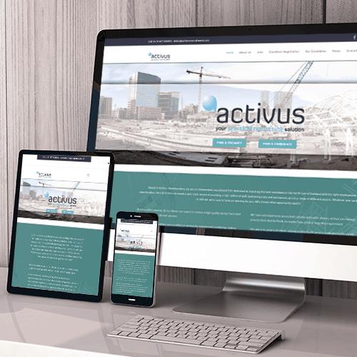 Activus Recruitment web design