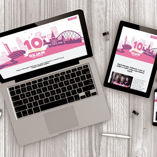 Oxjam glasgow Website Design