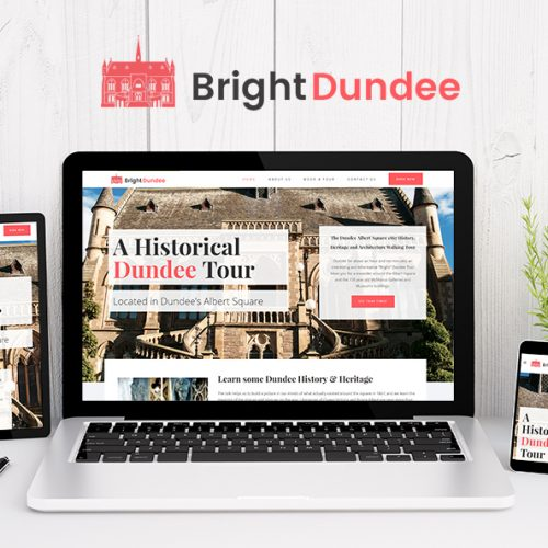 bright dundee tours website design