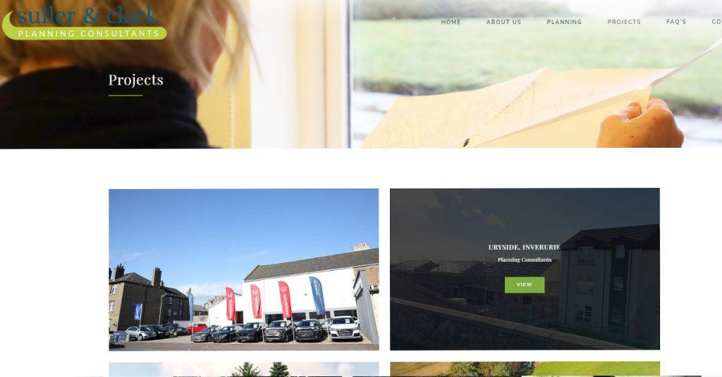 Aberdeenshire website design portfolio page