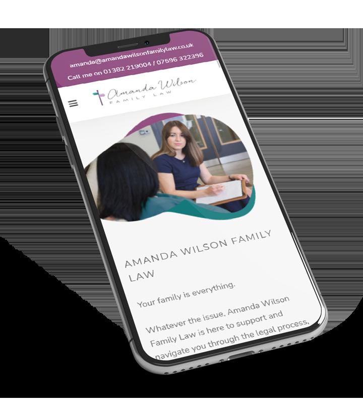 amanda wilson lawyer web design dundee