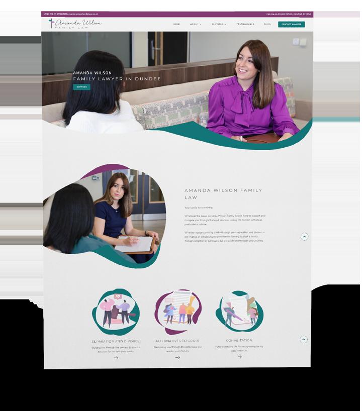 dundee scotland lawyer website design