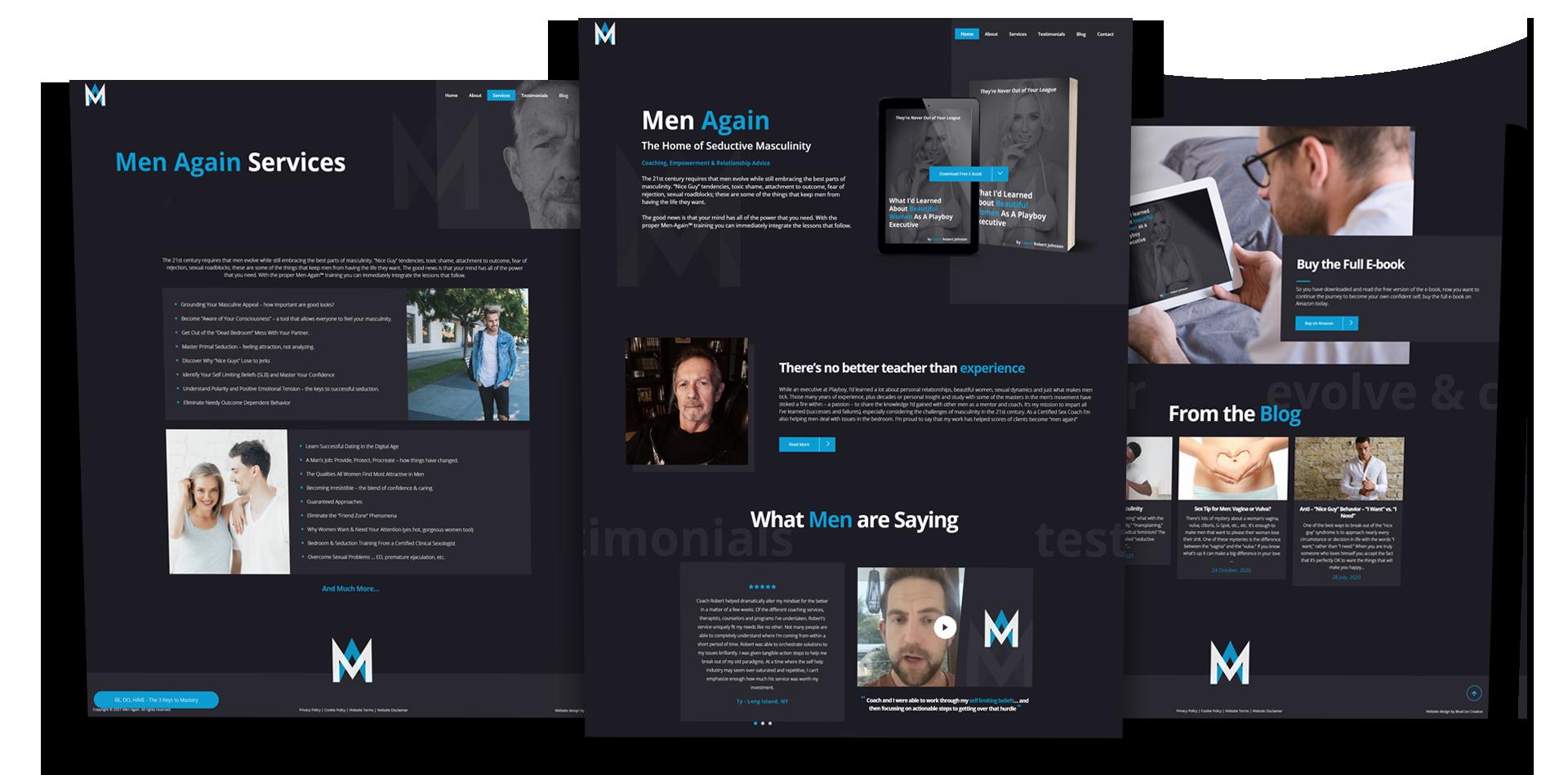 men again portfolio web design scotland