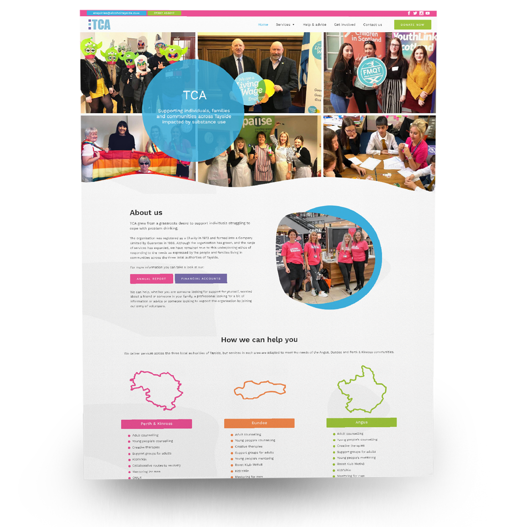 charity website design in dundee