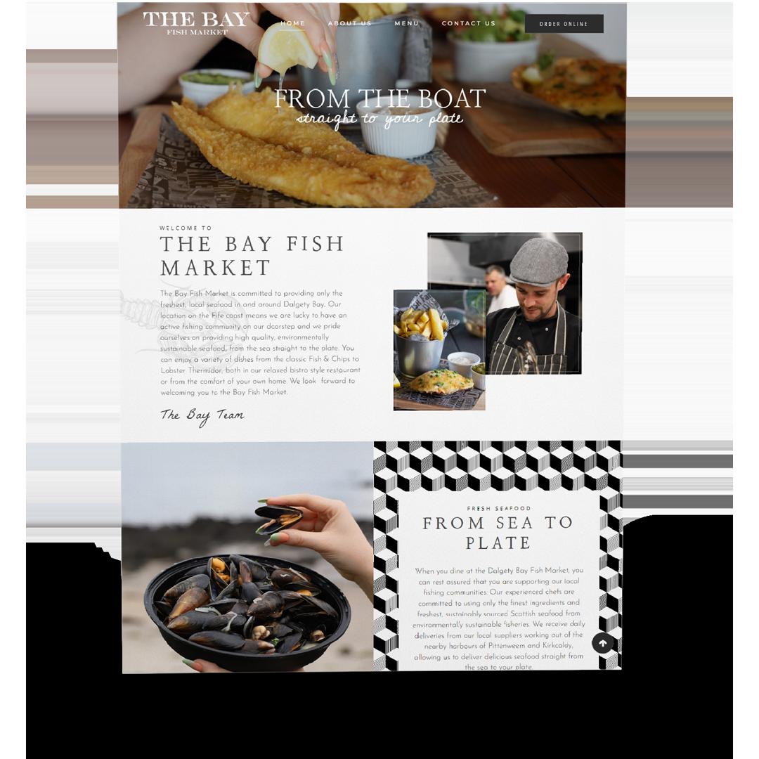 dundee restaurant website design