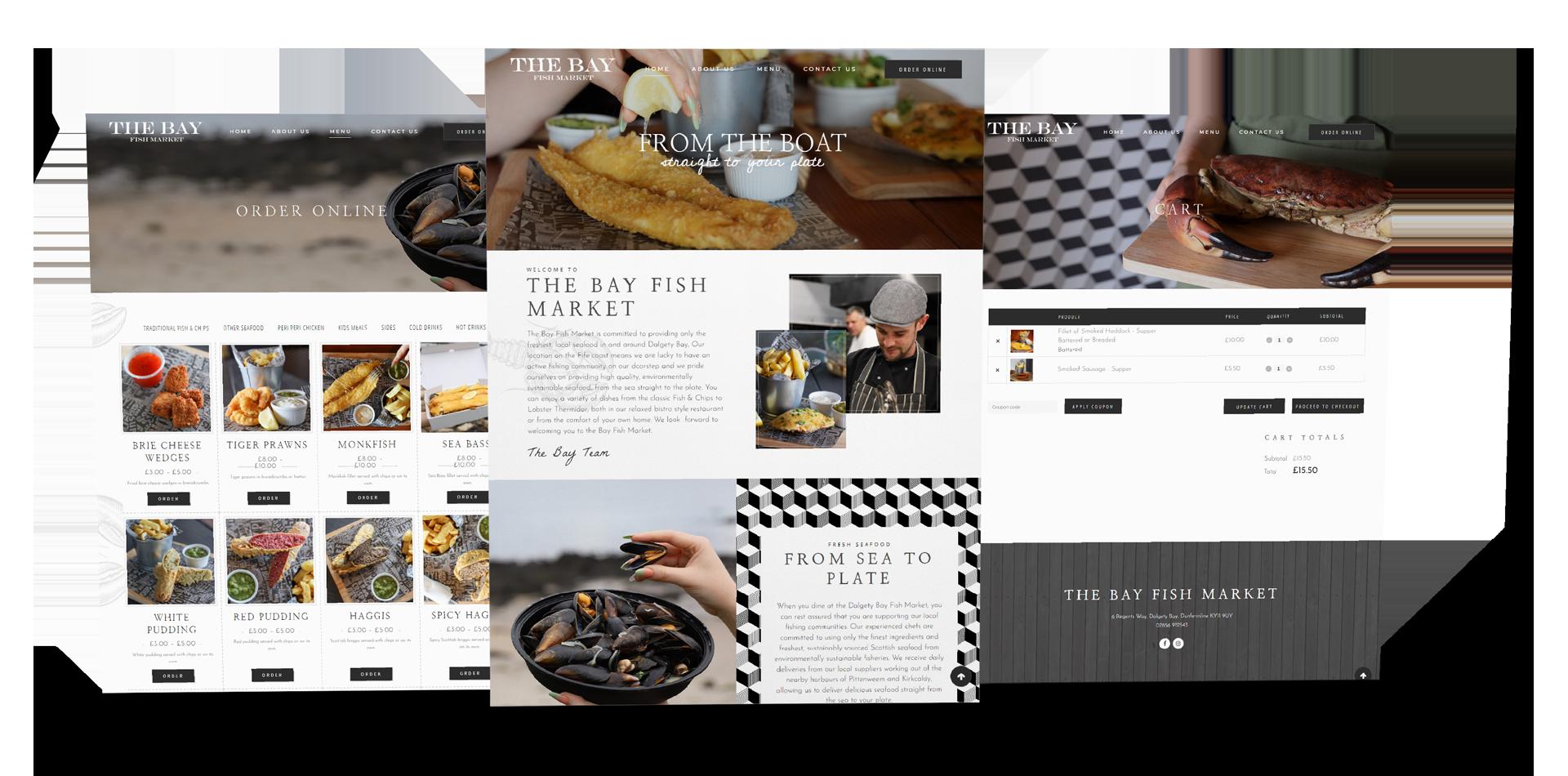 dundee takeaway website design