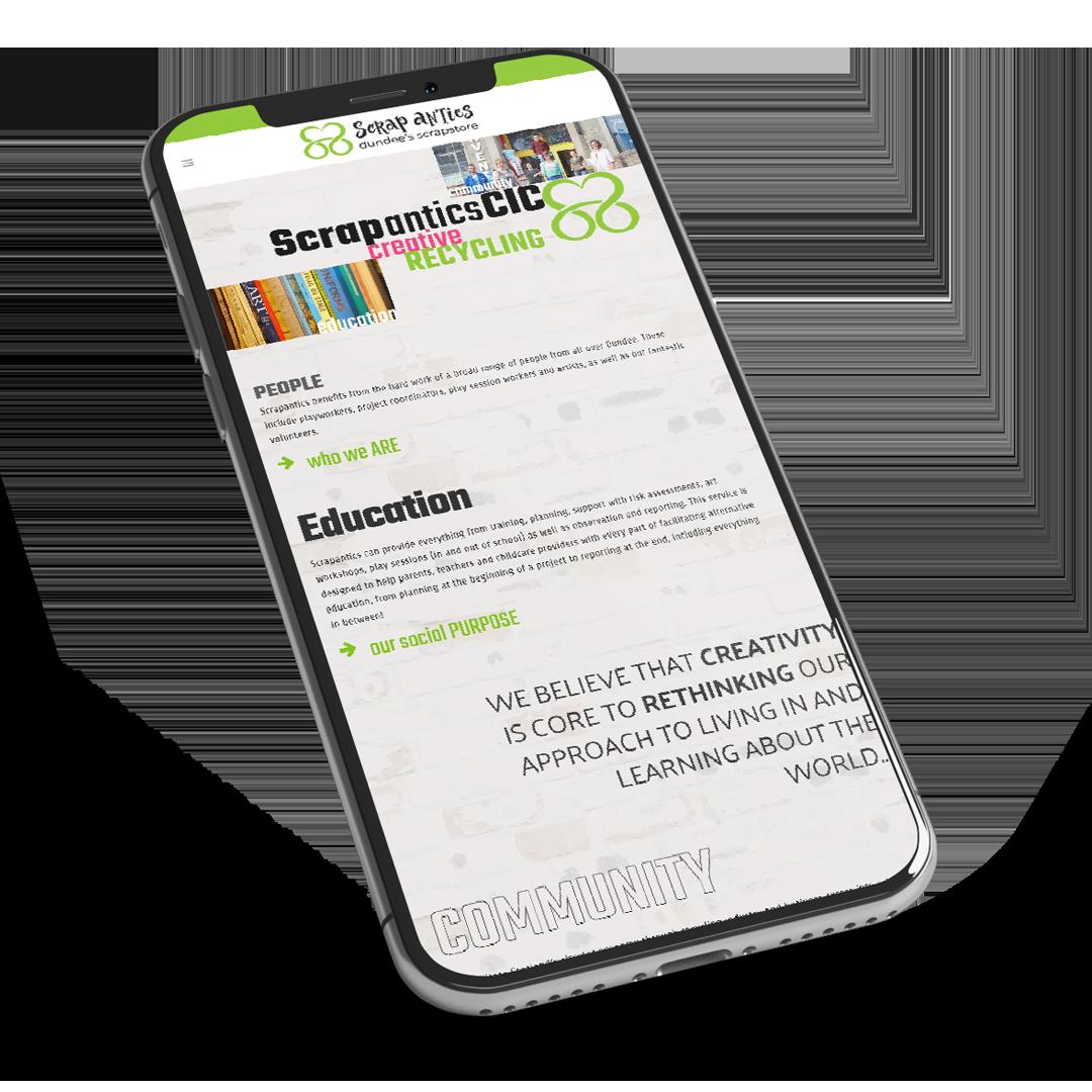 scrapantics web design dundee
