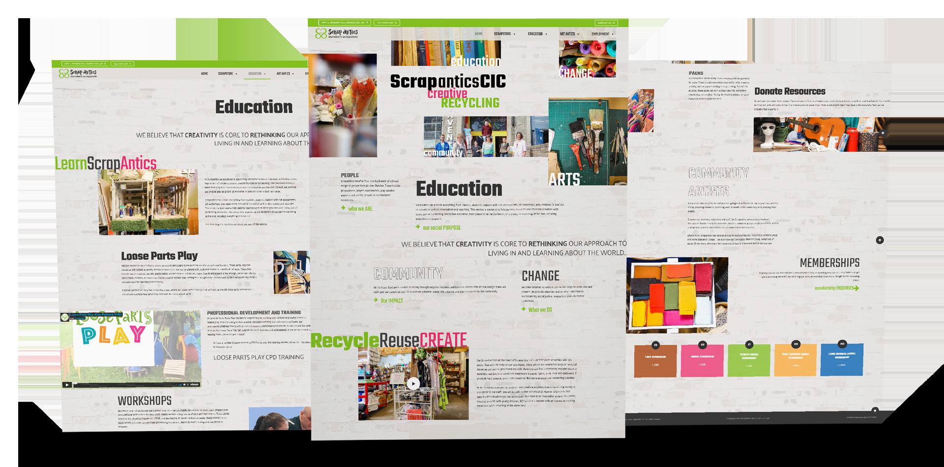 website design in dundee scrapantics